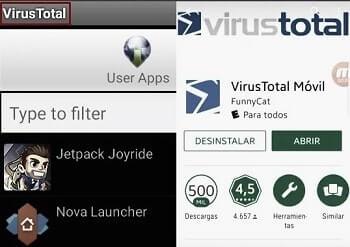 aplicación virustotal