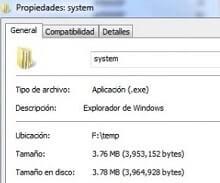 eliminar virus system.exe