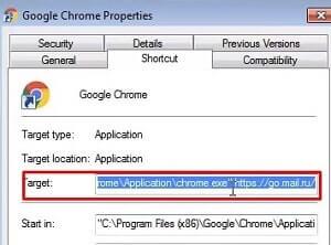 como eliminar virus mail.ru en google chrome