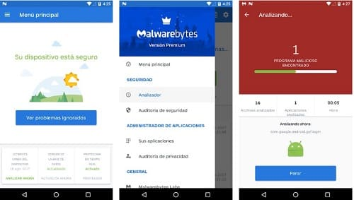Malwarebytes app