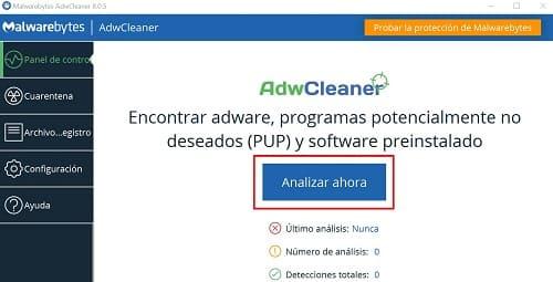 AdwCleaner eliminar virus