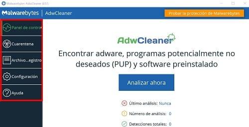 AdwCleaner análisis
