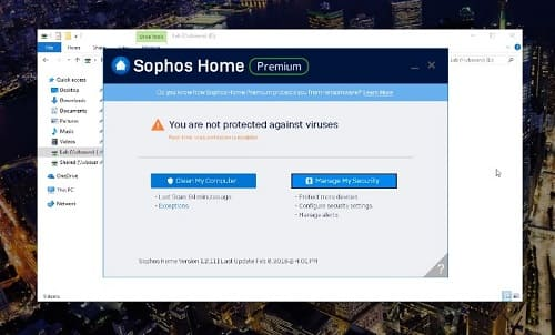 Sophos ordenador antivirus