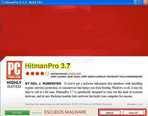 HitmanPro borrar amenaza informática
