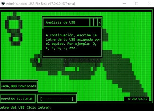 USB File Resc eliminar virus