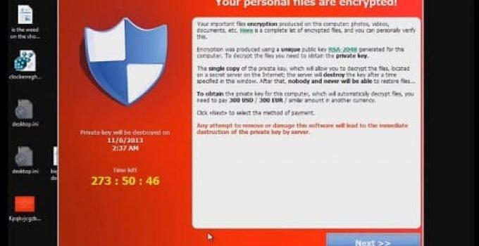 Cryptolocker cómo eliminar virus
